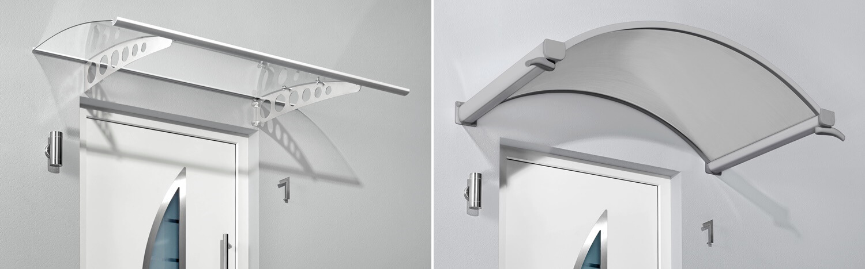 Haustürvordächer und Seitenblenden