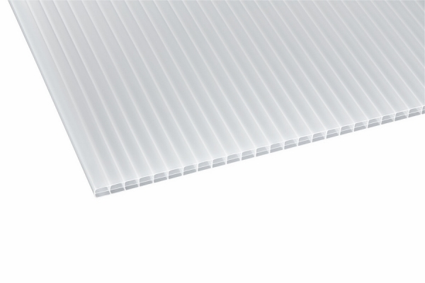 Stegdoppelplatten ECO opal-weiß 16 mm Polycarbonat 980x7000 mm