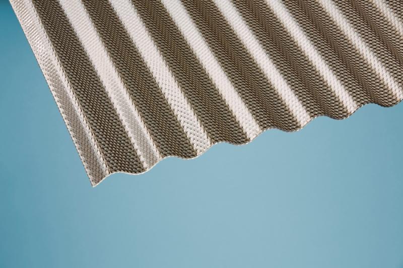 Profilplatte - Elefant - 76/18 Sinus-Wabe bronce Polycarbonat 1045x2000 mm