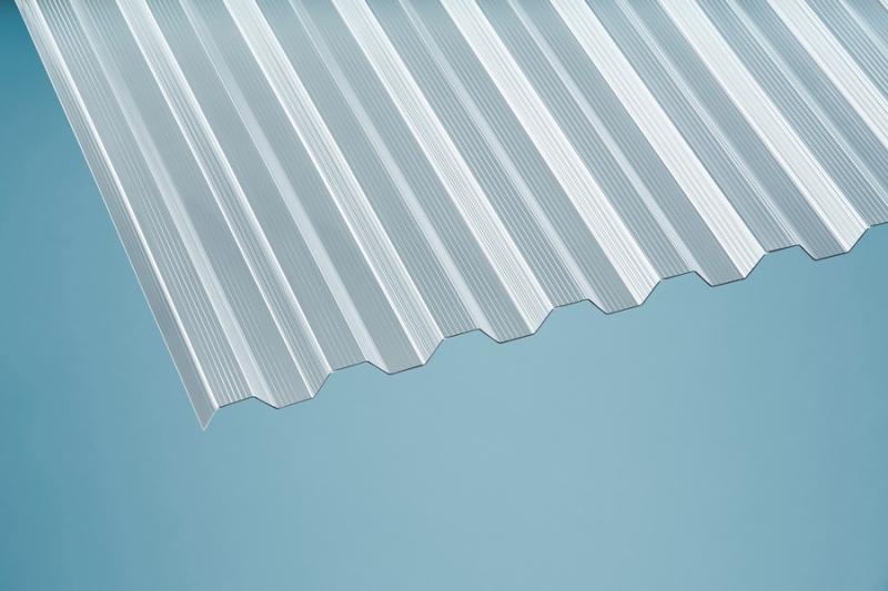 Profilplatte - Elefant - 76/18 Trapez klar gerillt Polycarbonat 950x4000 mm