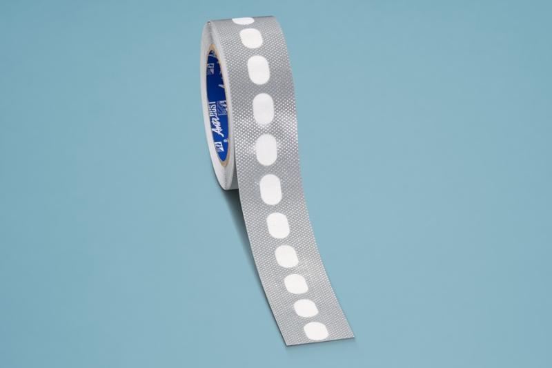 Kantenverschlussband silber á 15 Meter selbstklebend mit Membrane für 16er Stegplatten