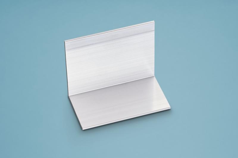 Abschluss- und Haltewinkel für 10/16er Stegplatten 36x60 mm Alu silber 60er Profilbreite