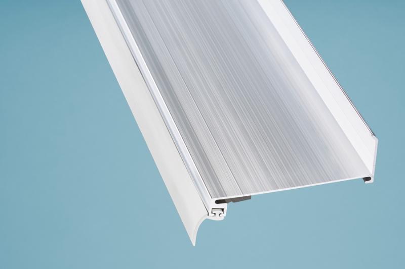 Alu-Wandanschluss Länge 2050 mm pressblank silber