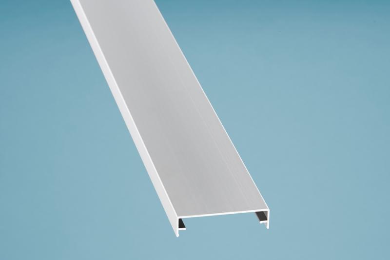 Zierklemmdeckel Aluminium eloxiert 6000 mm