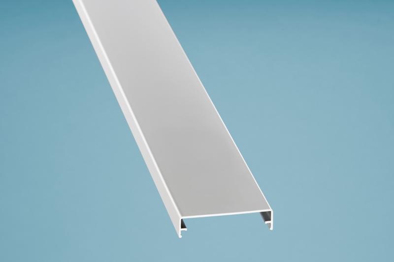 Zierklemmdeckel Aluminium weiß 6000 mm