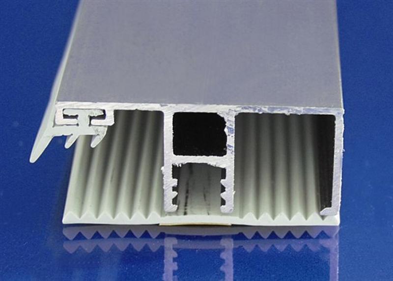 Randdeckprofil 4000 mm Aluminium pressblank für 16er Plattenstärke