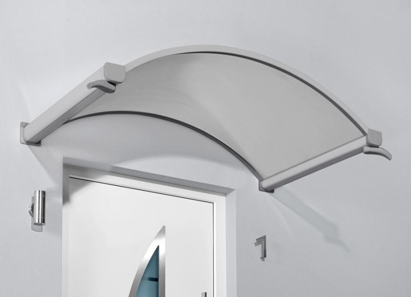 Haustürvordach Bogenvordach mit LED 160x90x30