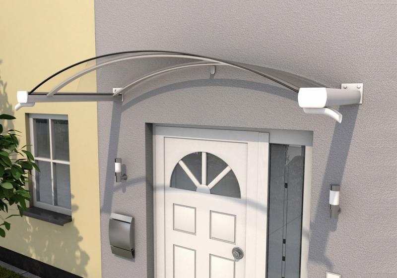 Bogenvordach 200 x 90 x 30 cm weiß