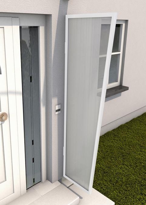 Haustürvordach Seitenblende 45x60x200