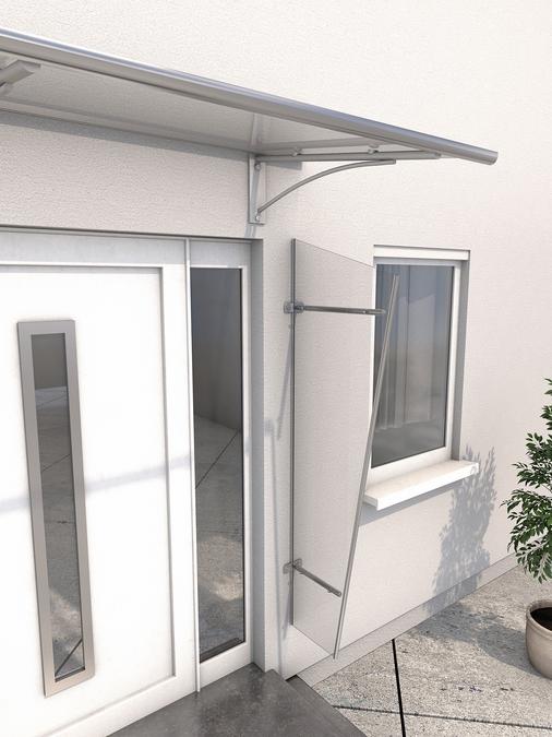 Seitenblende 167x62/32 cm Edelstahl
