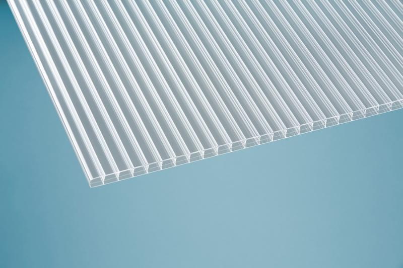 16 mm Stegplatte -Robust- klar 1200x3500 mm Polycarbonat