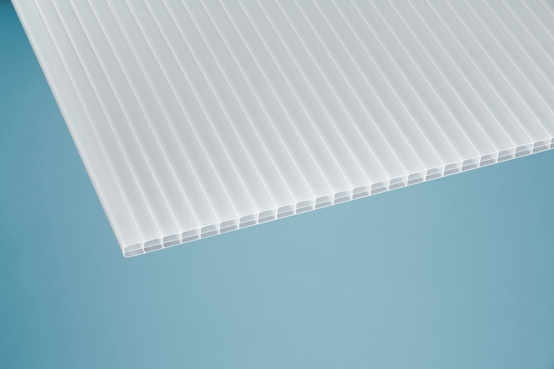 16 mm Stegplatte -Robust- opal/weiß 1200x7000 mm Polycarbonat
