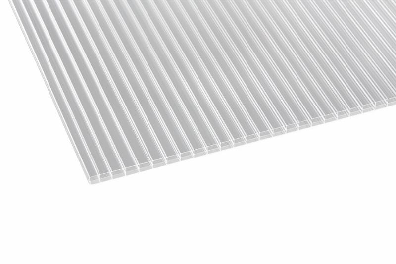 Doppelstegplatten ECO klar 16 mm Polycarbonat 980x3000 mm Preis je m2