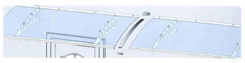 Verbindungsset für Vordächer Silber eloxiert
