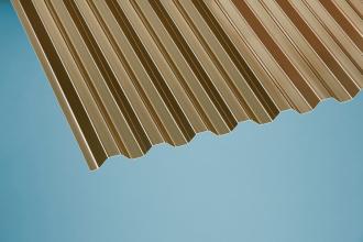 Profilplatte Trapez 70/18 bronce PVC 1090x2000 mm