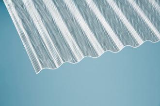Profilplatte Wabe 76/18 Sinus klar Acryl 1045x2000 mm