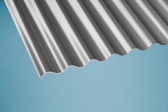 Profilplatte Wabe 76/18 Sinus graphit Acryl 1045x2000 mm
