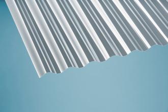 Profilplatte Sinus 76/18 klar Polycarbonat 1045x2000 mm