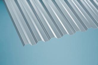 Profilplatte Trapez 76/18 klar Polycarbonat 1040x2000 mm