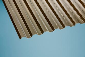 Profilplatte Trapez 76/18 bronce Polycarbonat 1040x2000 mm