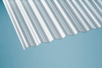Profilplatte - Elefant - 76/18 Sinus klar Polycarbonat 900x2000 mm