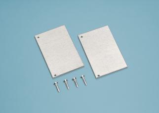 Alu-Wandanschluss Seitenblenden für Alu-Wandanschluss Set pressblank silber