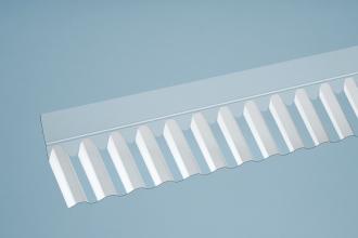 Acryl-Wandanschluss Sinus, Typ 76/18 Sinus á 1045 mm
