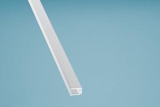 Alu-U-Profil Kantenschutz mit Tropfnase Aluminium weiss 980 mm