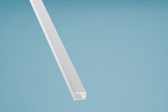 U-Profil Kantenschutz Aluminium weiß mit Tropfnase 1050 mm für 10er Stegplatten