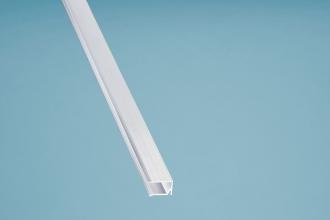U-Profil Kantenschutz Aluminium silber mit Tropfnase 1050 mm für 10er Stegplatten
