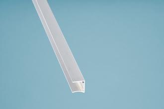 Alu-U-Profil Kantenschutz pressblank 980 mm oben auf die Platte stecken