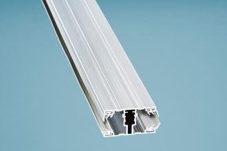 Mittelschraubprofil (Ober-& Unterprofil) 4500 mm Alu für 16er Stegplattenstärke