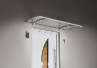 Pultvordach mit LED´s 150x90x22 cm Edelstahloptik