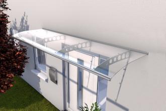 Pultvordach 300x90x22,5 cm Edelstahl