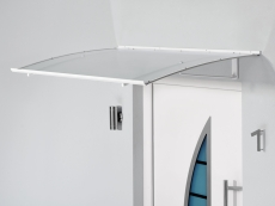 Pultvordach 140x90x17,5 cm weiß