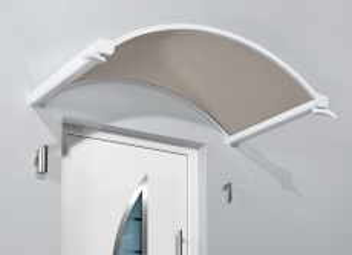Rundbogenvordach 160x90x30 cm Weiß