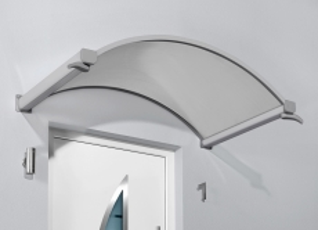 Rundbogenvordach 160x90x30 cm Braun