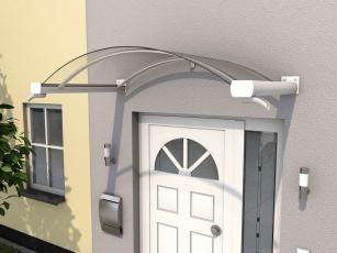 Bogenvordach 160x90x25 cm weiß