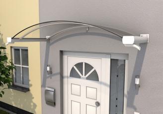 Bogenvordach 200x90x30 cm Weiß