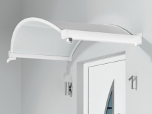 Ovalbogenvordach 200x90x30 cm Weiß