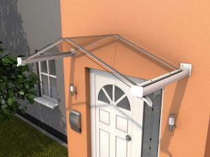 Giebelvordach 200x90x40 cm Weiß