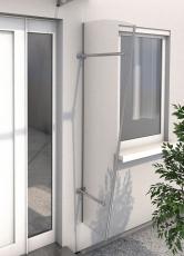 Seitenblende 185x60/30 cm Silber eloxiert
