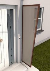 Seitenblende 175x60/45 cm Weiß