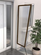 Seitenblende 175x60/45 cm Braun
