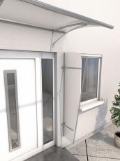 Seitenblende 185x60/30 cm Anthrazit