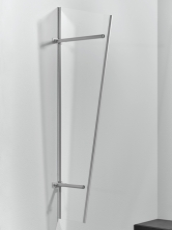 Seitenblende 185x60/30 cm Edelstahloptik