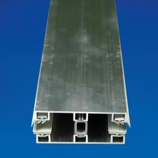 Glas-Mitteldeckprofil 80x4000 mm Alu für 8er Glasplatten