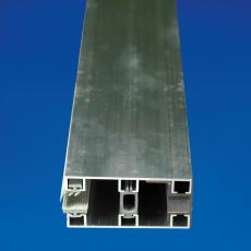 Glas-Randdeckprofil 60x4000 mm Alu für 8er Plattenstärke