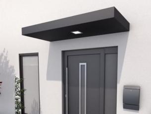 Rechteckvordach mit LED 160x90x14,5 cm anthrazit matt