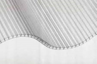 6 mm Hohlkammerwellplatte 177/51 klar Polycarbonat 920x1250 mm